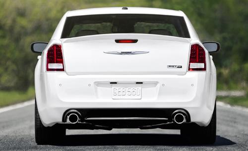 2012 Chrysler 300c SRT8 rear.