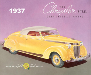 1937 Chrysler Royal Convertible Coupe