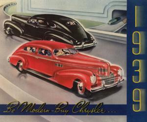 1939 Chrysler, photo from the Chrysler archives.