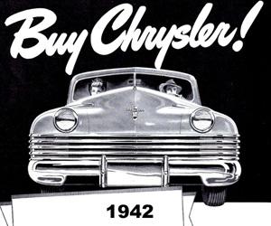 1942 Chrysler, photo from the Chrysler archives.