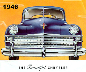 1946 Chrysler, photo from the Chrysler archives.