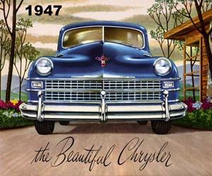 1947 Chrysler, photo from the Chrysler archives.