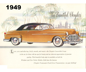1949 Chrysler, photo from the Chrysler archives.