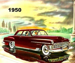 1950 Chrysler, photo from the Chrysler archives.