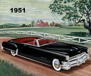 1951 Chrysler, photo from the Chrysler archives.