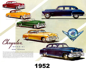 1952 Chrysler, photo from the Chrysler archives.