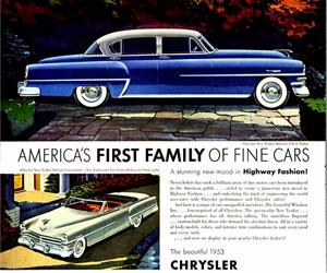 1953 Chrysler, photo from the Chrysler archives.