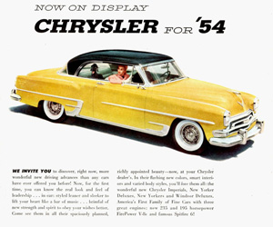 1954 Chrysler, photo from the Chrysler archives.