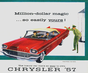 1957 Chrysler, photo from the Chrysler archives.