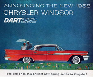 1958 Chrysler, photo from the Chrysler archives.