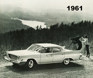 1961 Chrysler, photo from the Chrysler archives.