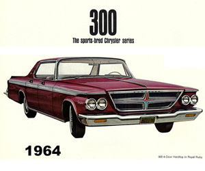 1964 Chrysler, photo from the Chrysler archives.