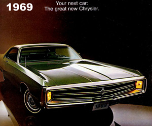 1969 Chrysler 300, photo from the Chrysler archives.