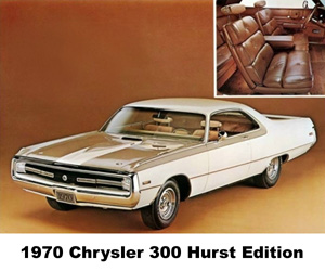 1970 Chrysler 300 Hurst Edition, photo from the Chrysler archives.