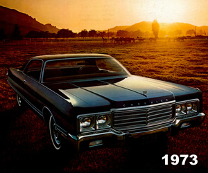 1973 Chrysler New Yorker Brougham, photo from the Chrysler archives.