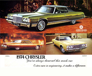 1974 Chrysler Cordoba, photo from the Chrysler archives.