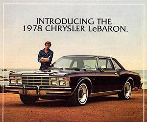 1978 Chrysler Lebaron, photo from the Chrysler archives.