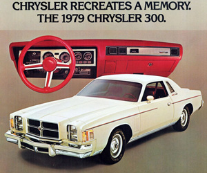 1979 Chrysler 300, photo from the Chrysler archives.