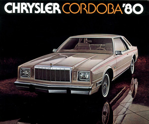 1980 Chrysler Cordoba, photo from the Chrysler archives.