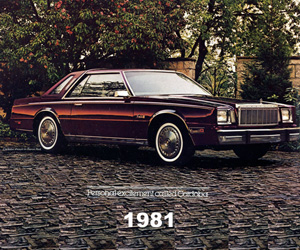 1981 Chrysler Cordoba, photo from the Chrysler archives.