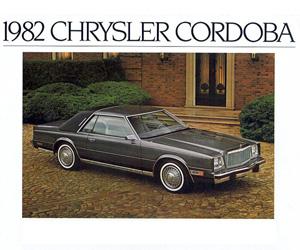 1982 Chrysler Cordoba, photo from the Chrysler archives.