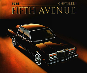 1984 Chrysler Fifth Avenue, photo from the Chrysler archives.