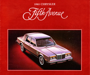 1985 Chrysler Fifth Avenue, photo from the Chrysler archives.