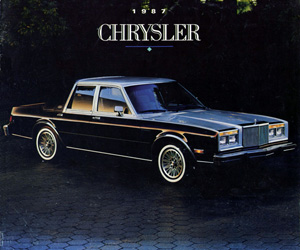 1987 Chrysler Fifth Avenue, photo from the Chrysler archives.