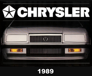 1989 Chrysler, photo from the Chrysler archives.