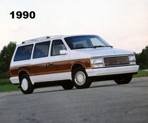 1990 Chrysler Town & Country, photo from the Chrysler archives.