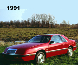1991 Chrysler LeBaron Coupe, photo from the Chrysler archives.