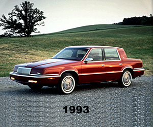 1993 Chrysler New Yorker, photo from the Chrysler archives