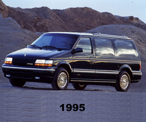 1995 Chrysler Town & Country, photo from the Chrysler archives.