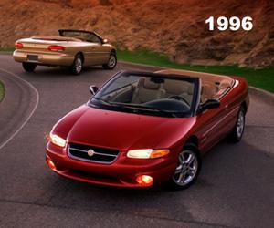 1996 Chrysler Sebring Covertible, photo from the Chrysler archives.
