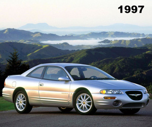 1997 Chrysler Sebring, photo from the Chrysler archives.