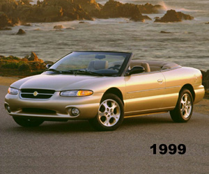1999 Chrysler Sebring Convertible, photo from the Chrysler archives.