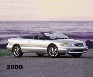 2000 Chrysler Sebring Convertible, photo from the Chrysler archives.