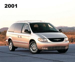 2001 Chrysler Town and Country, photo from the Chrysler archives.