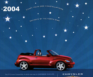 2004 Chrysler PT Cruiser Convertible, photo from the Chrysler archives.