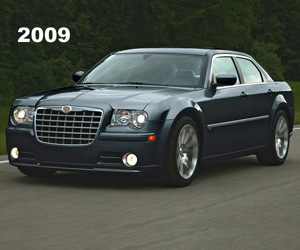 2009 Chrysler 300, photo from the Chrysler archives.
